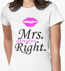 Mr. Right - Mrs. Always Right Couples Design T-Shirt