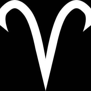 Aries Horoscope Zodiac White by GrizzlyGaz