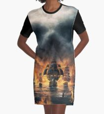 PIRATES OF DEATH  Graphic T-Shirt Dress