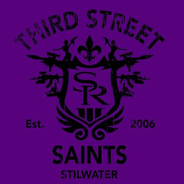 Saints Row 3 Tribute Distressed Black by BPPhotoDesign