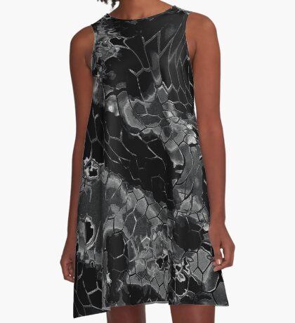 Animal print design - black dragon A-Line Dress