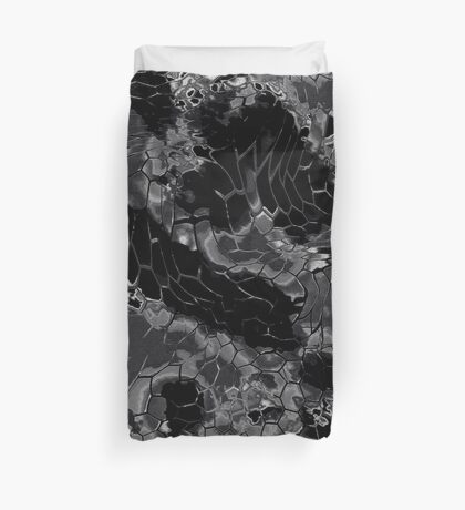 Animal print design - black dragon Duvet Cover