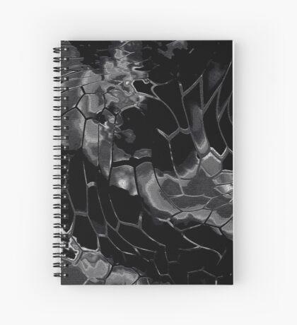 Animal print design - black dragon Spiral Notebook