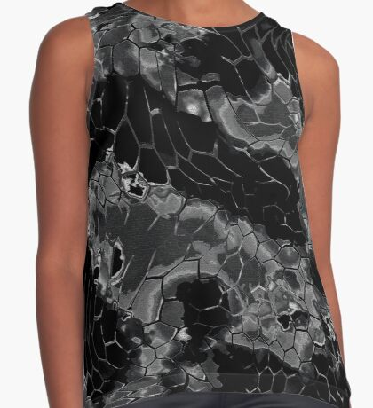 Animal print design - black dragon Contrast Tank