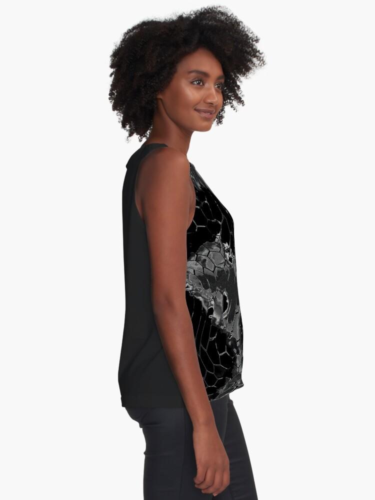 Alternate view of Animal print design - black dragon Sleeveless Top