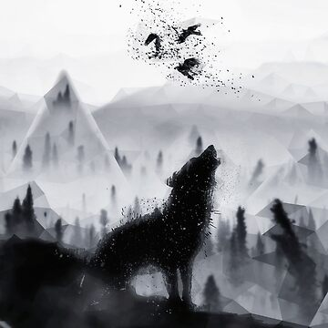 The Lone Wolf - LowPoly Style by Destroyed-Pixel