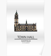 Sheffield Icons - Town Hall Poster