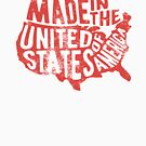 Made in the USA America Map July 4th History Teacher Graphic T shirt by DesIndie