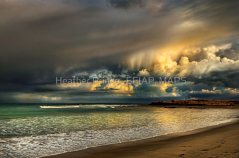 Evening Storm Passing By by Heather Prince