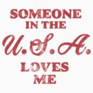 Someone in the USA loves me July 4th History Teacher Graphic T shirt by DesIndie