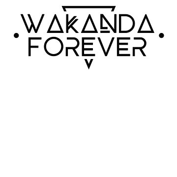 Wakanda Forever - Black Panther Inspired Font Design by landobry