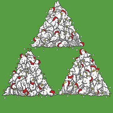 Cucco Triforce by 8-bit-hobo