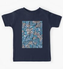 Gray Day with Blue Feelings Kids Tee