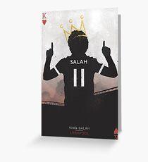 Salah The Egyptian King Liverpool Football Club Design Greeting Card