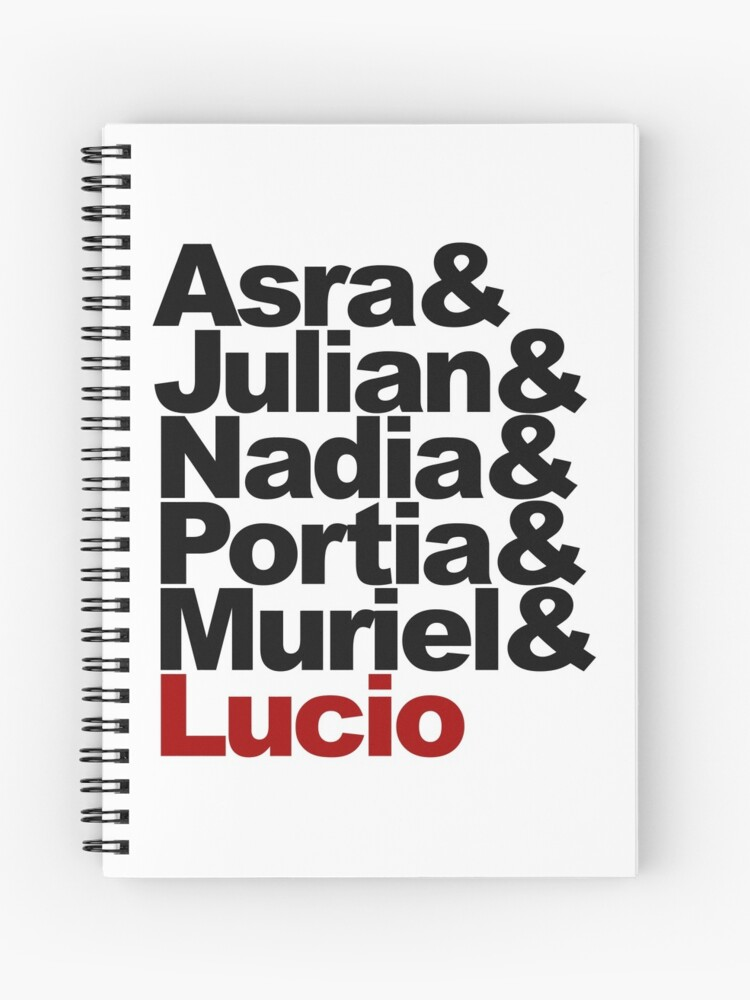 The Arcana Game Main Characters Black   Spiral Notebook