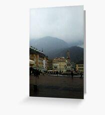 Bolzano Square, Italy. Greeting Card