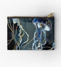 Metallic Ocean III Zipper Pouch