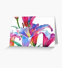 Watercolor Lilies Greeting Card