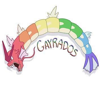 a wild gayrados appeared! by shinysylvieon