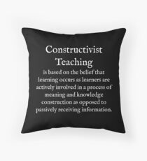 C:Constructivist Teaching:WearYourWords:English:White Text  Throw Pillow