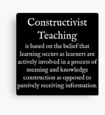 C:Constructivist Teaching:WearYourWords:English:White Text  Canvas Print