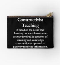 C:Constructivist Teaching:WearYourWords:English:White Text  Studio Pouch