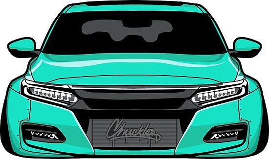 Slammed 10th Gen Honda Accord Posters By Chucklesdesign Redbubble