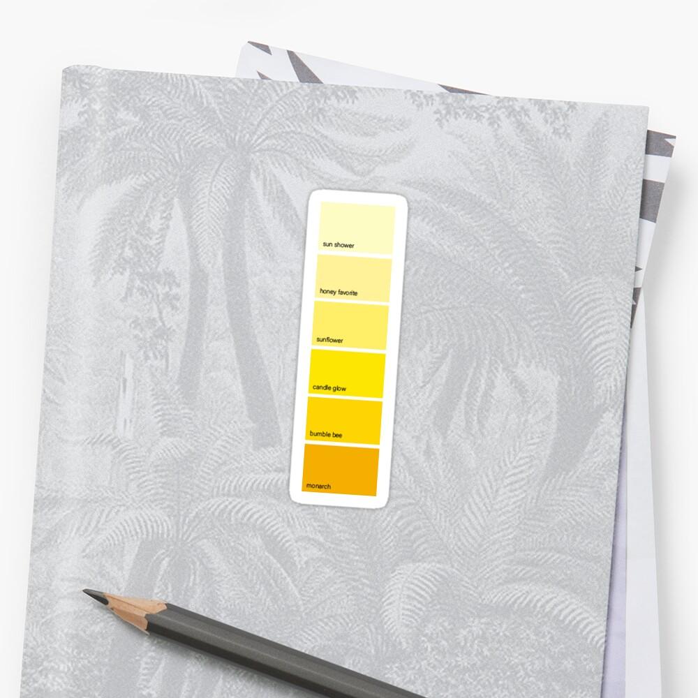Yellow Paint Swatch by anastasiaratti