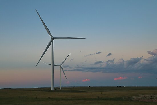 Sunset Turbines #1 by Rachel Jeffrey