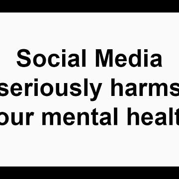 Social Media seriously harms your mental health by PaulyH
