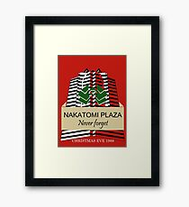 Nakatomi Plaze Christmas Design Framed Print