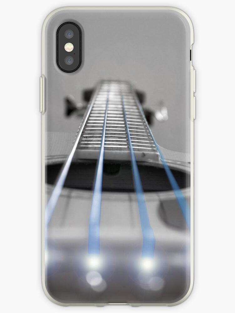 Bass Guitar Blue Strings by Paul Madden