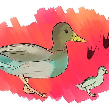 Ducks and Ducklings  by Maxiomatic