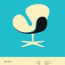 SWAN CHAIR (1958) by JazzberryBlue