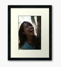 Laughing... Framed Print