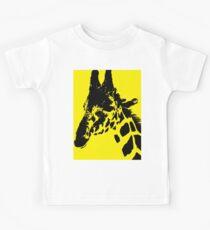 Giraffe in Banana Yellow Digital Art and Photography by Colleen Kids Tee