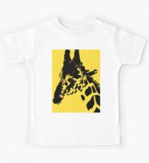 Giraffe in Mustard Yellow Digital Art and Photography by Colleen Kids Tee