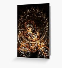 Butterfly - Abstract Fractal Artwork Greeting Card