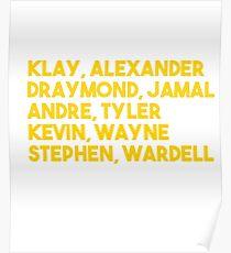 Dubs Basketball Championship Tee- Hamptons Poster
