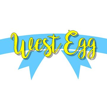 west egg logo - the great gatsby by claireheil014