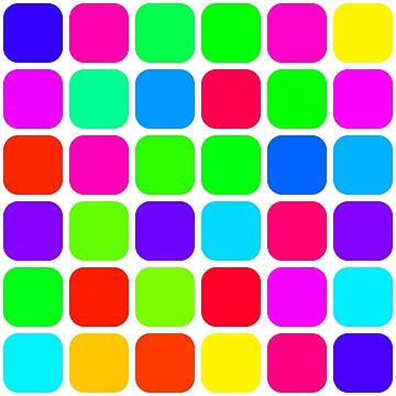 Rainbow Colorful Rounded Squares Pattern by rubina