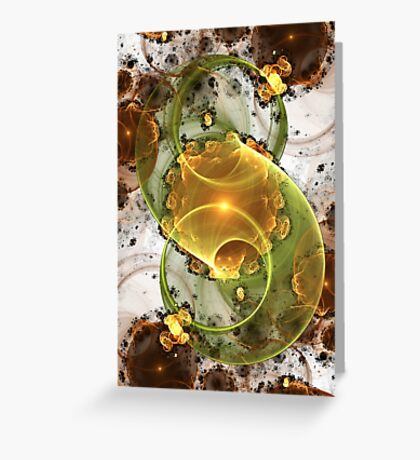 Coffee or Tea - Abstract Fractal Artwork Greeting Card