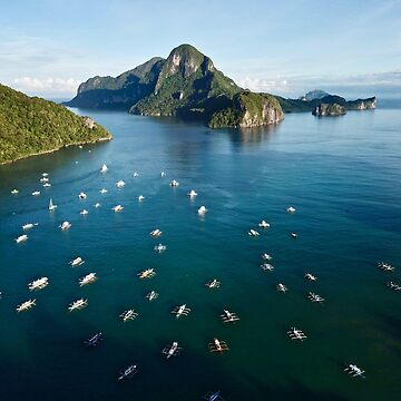 A drone shot of the Philippines Islands from El Nido by The-Drone-Man