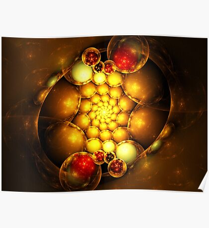 Dragon Eggs - Abstract Fractal Artwork Poster