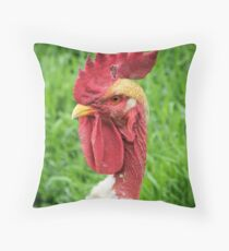 Hannes the Rooster Throw Pillow