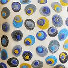 Sweet Pebbles - Blue  by Helen Richards