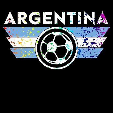 Argentina Soccer Jersey Shirt Paint Splatter Distressed  by 7United