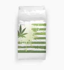 Marijuana flag Duvet Cover