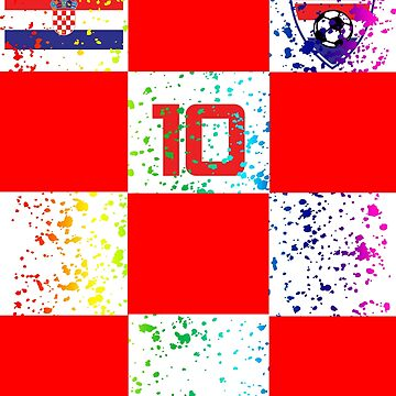 Croatia Jersey Soccer Football Shirt Red  Paint Splatter by 7United