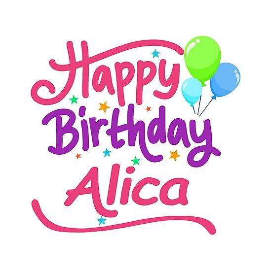"""Happy Birthday Alicia"" Photographic Prints By PM-Names"